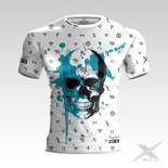 Koszulka treningowa ONLY-BX DIAMOND SKULL BLUE